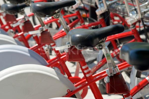Stock photo: Rental bicycles