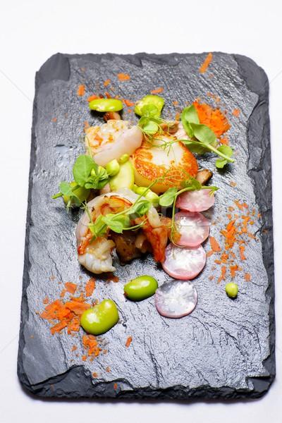 Kismalac garnélák étel konyha tyúk piros Stock fotó © pedrosala