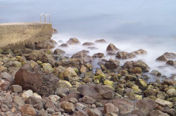 Plaj sahne melankoli çakıl ada madeira Stok fotoğraf © pedrosala