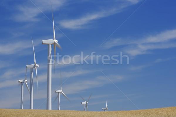Rüzgâr enerji grup yenilenebilir elektrik üretim Stok fotoğraf © pedrosala