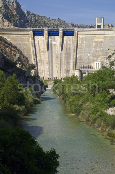 мнение водохранилище дерево стены горные Сток-фото © pedrosala