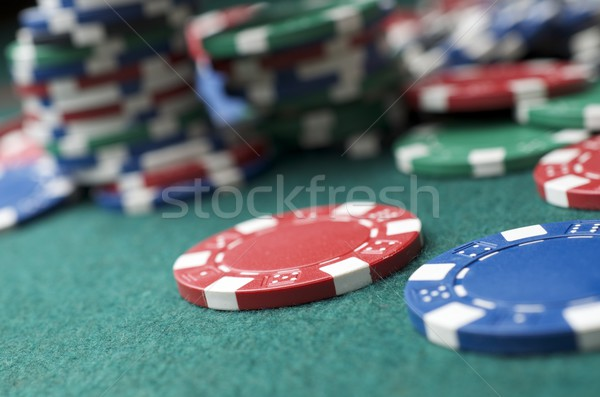 казино фишки казино зеленый деньги текстуры фон Сток-фото © pedrosala