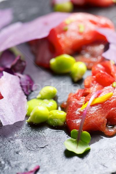 Rosso tonno sashimi alimentare cena nero Foto d'archivio © pedrosala