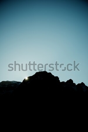 Stock photo: Sunset in Pyrenees