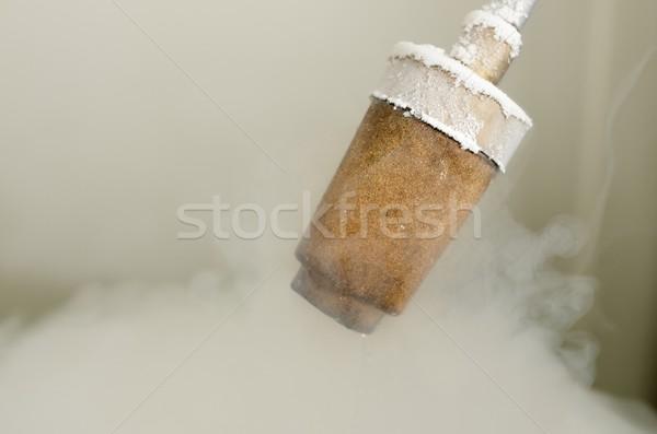 Azot transfer sıvı duman buz Stok fotoğraf © pedrosala