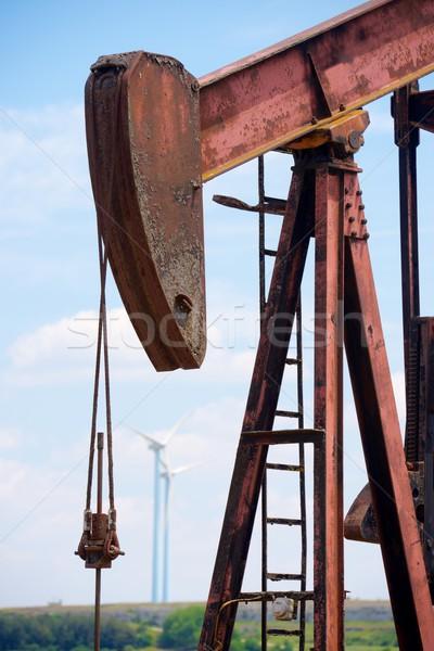 Olajkút LA égbolt kék ipar energia Stock fotó © pedrosala