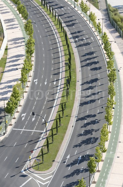 Vazio rua rua principal não carros Foto stock © pedrosala