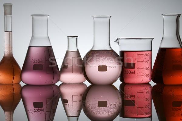 Stock fotó: Laboratórium · üveg · narancs · ipar · labor · fehér