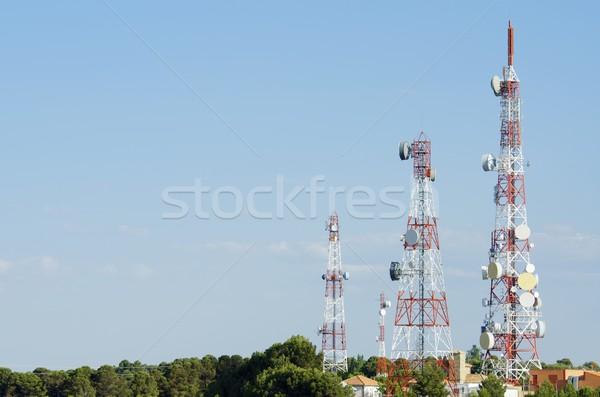 связь towers нижний мнение Blue Sky Сток-фото © pedrosala