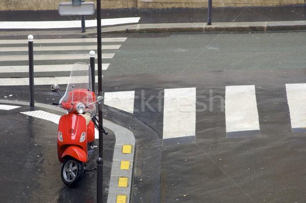 赤 オートバイ 通り パリ フランス 水 ストックフォト © pedrosala