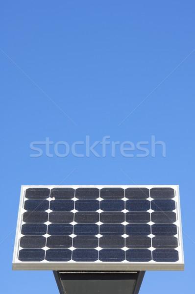 Kicsi fotovoltaikus panel kék ég technológia energia Stock fotó © pedrosala