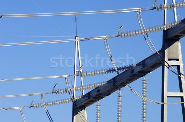 電源 トランス 詳細 風景 産業 エネルギー ストックフォト © pedrosala