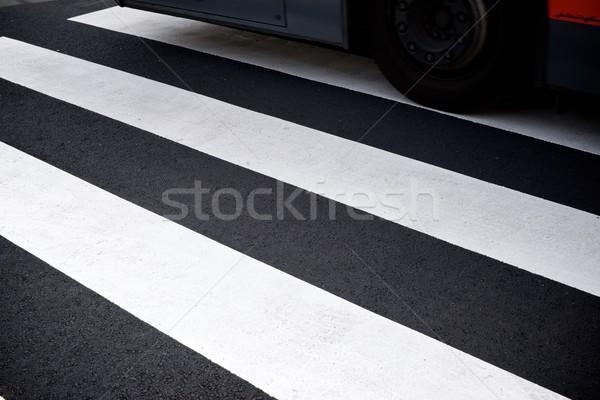 Zèbre voiture peinture signe noir trafic Photo stock © pedrosala