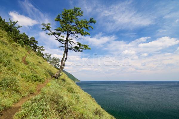 Lago costa cidade sibéria Rússia céu Foto stock © pedrosala