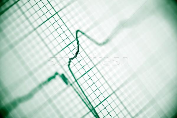 Elektrocardiogram papier vorm hart lichaam Stockfoto © pedrosala