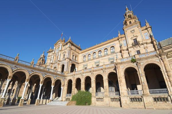 Tér helyszín amerikai kiállítás Andalúzia Spanyolország Stock fotó © pedrosala