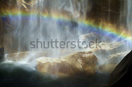 虹 ヨセミテ国立公園 水 美 滝 石 ストックフォト © pedrosala
