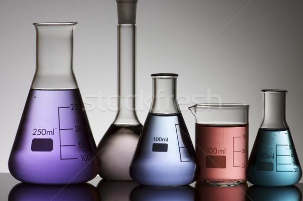 laboratory flasks Stock photo © pedrosala