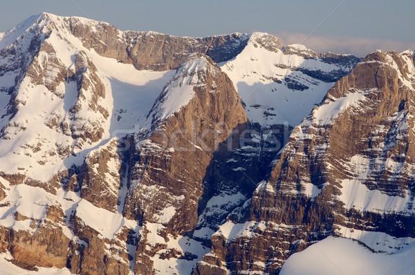 日没 表示 北方 山 谷 自然 ストックフォト © pedrosala