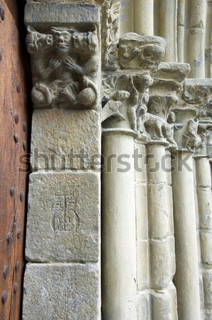 Romanesque cloister Stock photo © pedrosala
