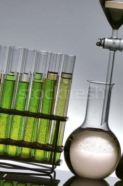 Laboratórium részlet vegyi kutatás üveg háttér Stock fotó © pedrosala
