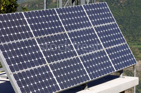 Photovoltaïque panneau faible électriques énergie production Photo stock © pedrosala