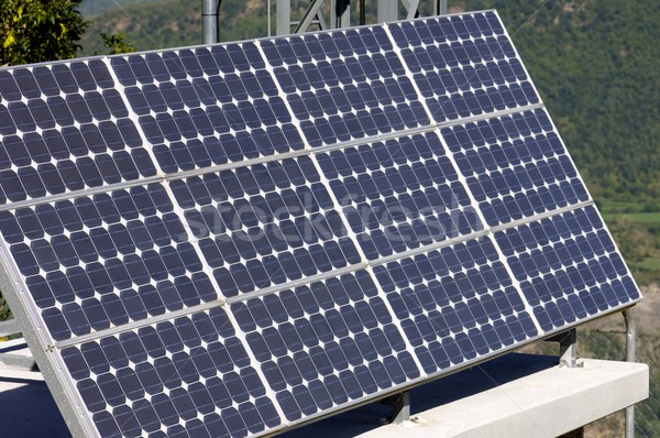 Fotovoltaik panel küçük elektrik enerji üretim Stok fotoğraf © pedrosala