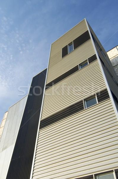 Modern bina ofis bulutlar Bina çalışmak Stok fotoğraf © pedrosala