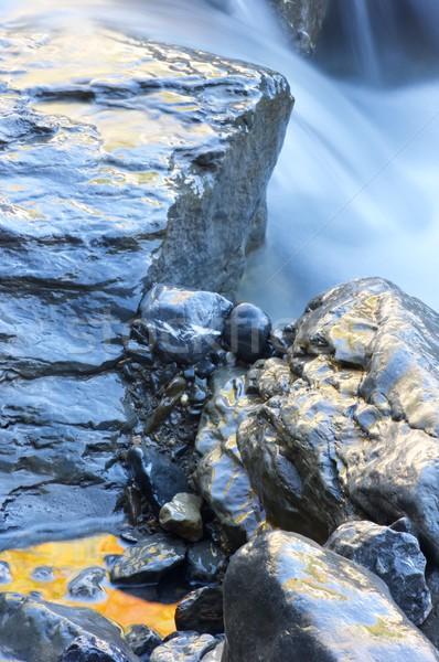 Colorido arroyo montana valle belleza rock Foto stock © pedrosala