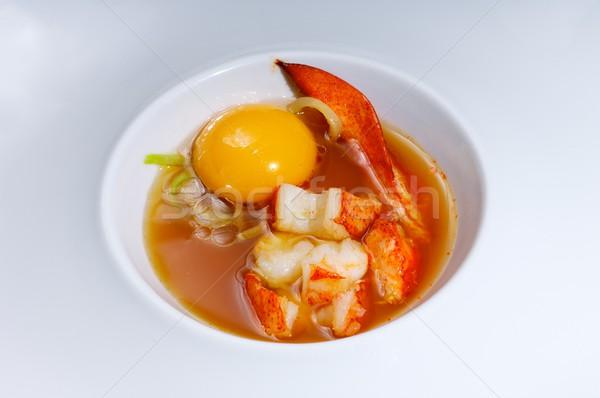 ロブスター 卵 卵黄 海 スープ 食品 ストックフォト © pedrosala