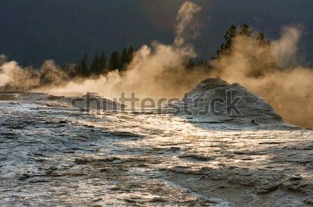 Foto stock: Parque · géiser · natureza · terra · montanhas · salpico