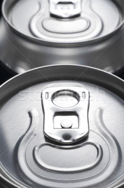 Soda grupo alumínio lata fundo beber Foto stock © pedrosala