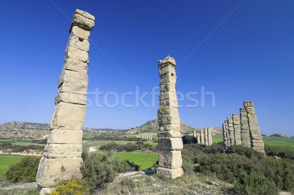 Roman aqueduct Stock photo © pedrosala