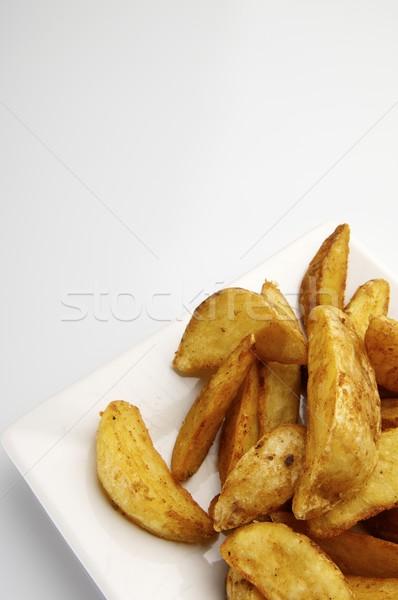 Aardappel witte plaat voedsel Stockfoto © pedrosala