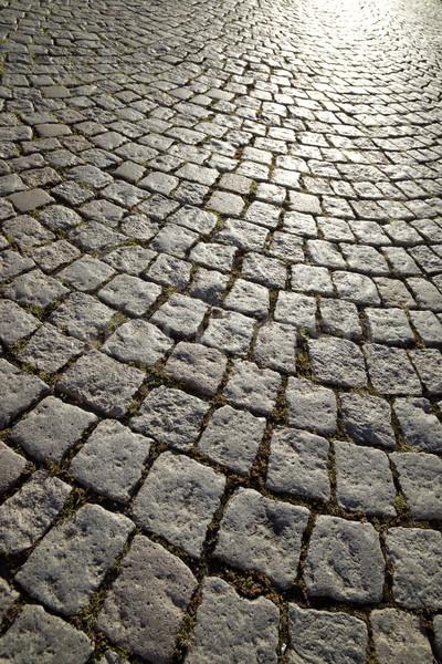 Pietra piano strada piastrelle strada Foto d'archivio © pedrosala