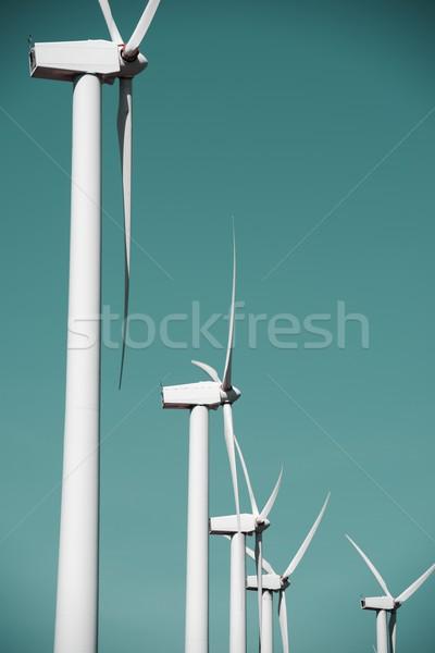 Wind energie elektrische macht productie technologie Stockfoto © pedrosala