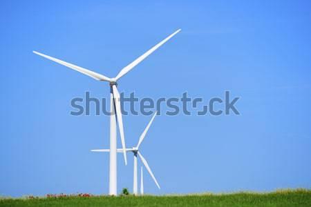 Rüzgâr enerji yenilenebilir elektrik üretim teknoloji Stok fotoğraf © pedrosala