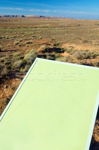 Signaal groene landschap gras ontwerp Blauw Stockfoto © pedrosala