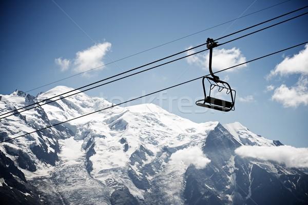 Альпы силуэта небе спорт природы Сток-фото © pedrosala