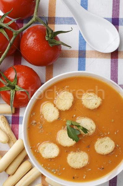 Stok fotoğraf: Plaka · masa · örtüsü · sağlık · restoran