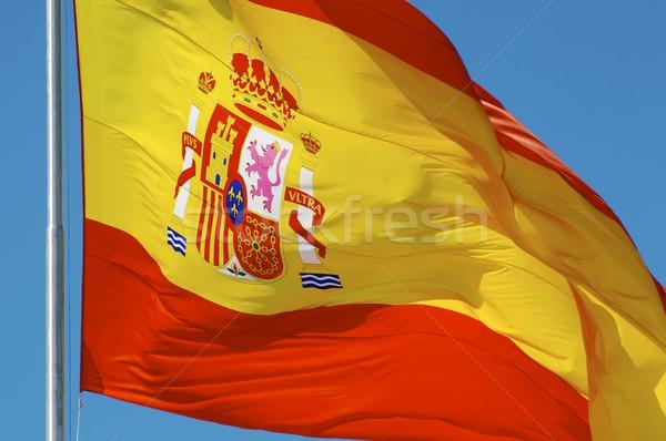 スペイン国旗 スペイン語 フラグ 風 青空 ストックフォト © pedrosala