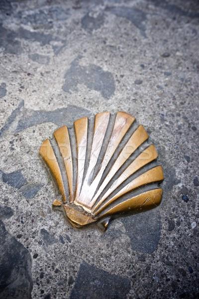 Ruta Shell piedra flecha caminata Foto stock © pedrosala