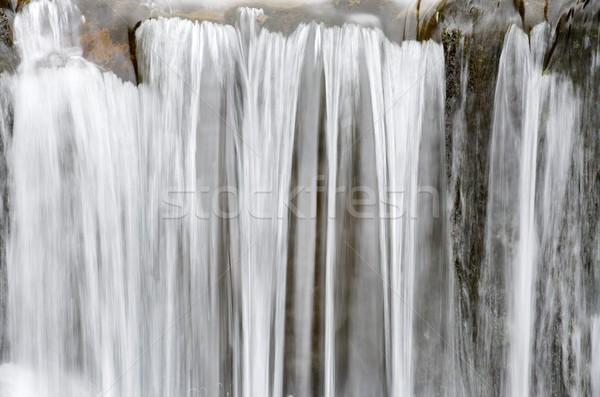 Waterval weinig park natuur achtergrond steen Stockfoto © pedrosala