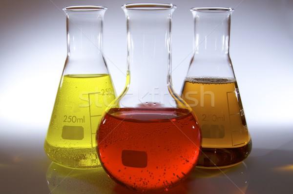 bottles of laboratory Stock photo © pedrosala