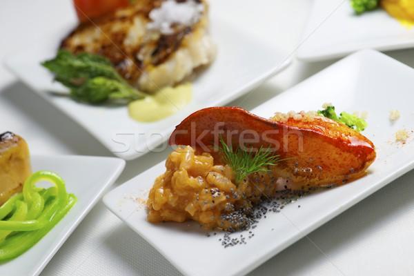 Тапас группа небольшой белый продовольствие современных Сток-фото © pedrosala