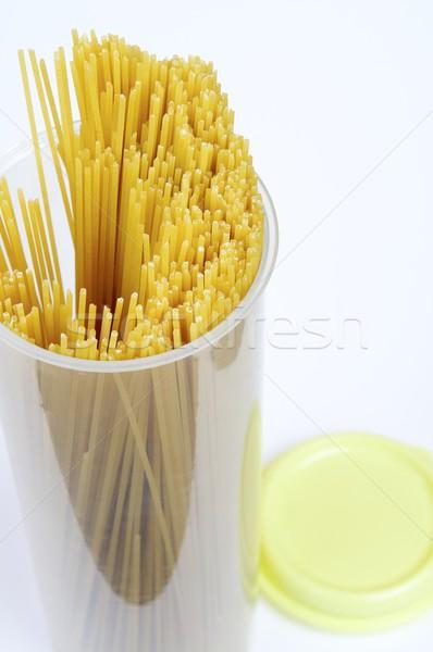 Spaghetti vak Geel tape achtergrond olie Stockfoto © pedrosala