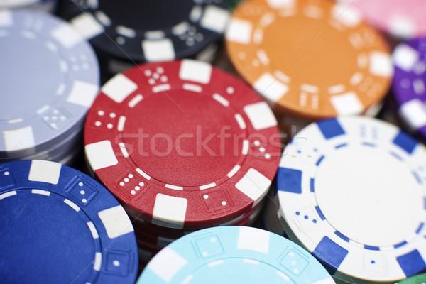 казино фишки казино фон таблице покер белый Сток-фото © pedrosala
