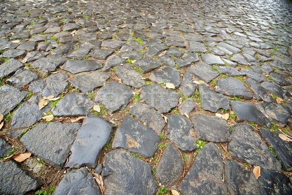 Steen vloer straat tegels Lissabon Portugal Stockfoto © pedrosala