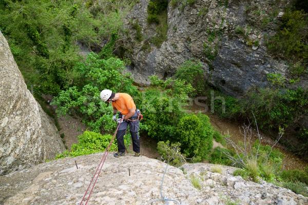 Hiszpania góry ściany sportu charakter krajobraz Zdjęcia stock © pedrosala