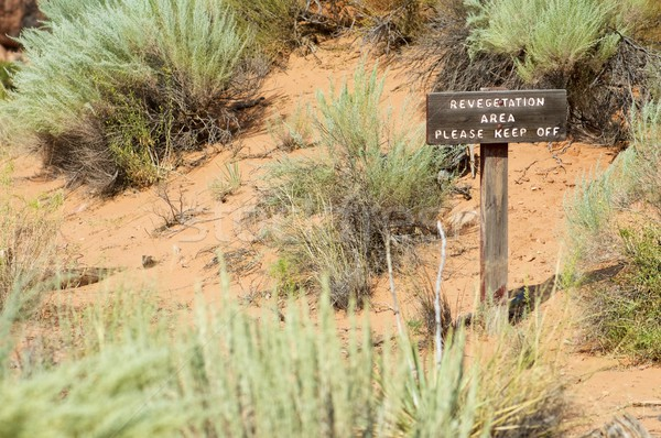 Sinyal park güzellik seyahat Amerika iz Stok fotoğraf © pedrosala